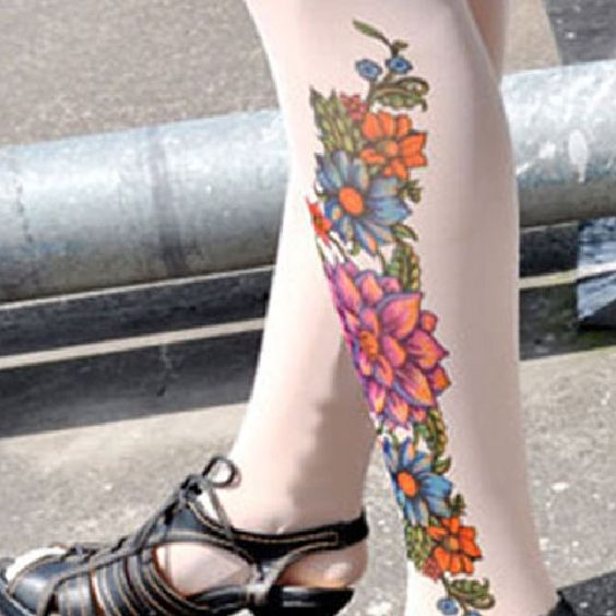 Tattoo Stockings Spring Unisex Stretchy Sexy Stockings 1 PAIR | Balli Gifts