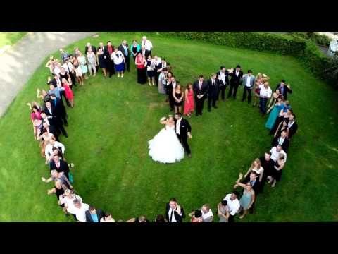 Hochzeitsherz + Drohne - Hochzeitsfeier - Wedding Video (drone, dji, phantom 2, gopro 3+) - YouTube