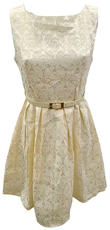 Vintage/Retro Kleid - Barock Muster Creme