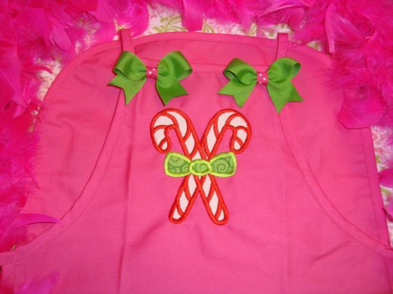 Candy Cane Children's Apron! find me on facebook at The Ruffled Rose Bowtique!