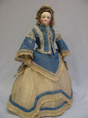 """15"""" C Antique SMILING BRU FRENCH FASHION Empress Eugenie All-Original Ca.1872"""