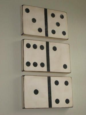 diy home decor wall art large vintage looking dominoes tutorial