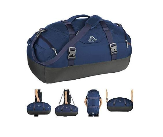 Gym Duffel Bag Travel Multi-function Canvas Large Backpack with Shoes Compartment