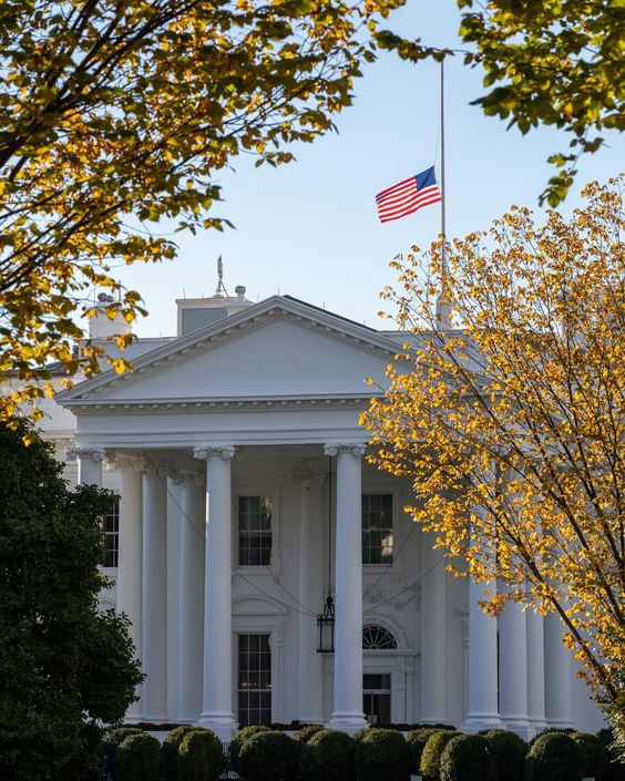 The American Flag Is Flying At Half Staff Above The White House As Our Nation Grieves The Victims Of The Shooting At Tree Of Life White House House This Is Us