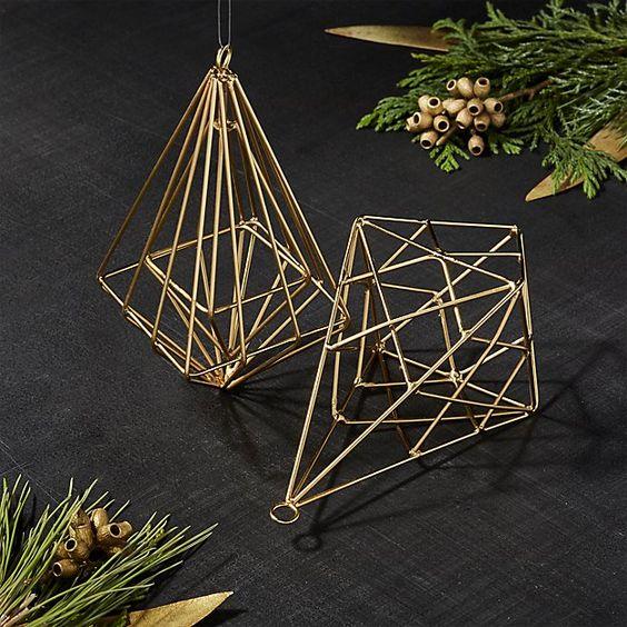 Gallet Drop Ornaments, Set of 2   Crate and Barrel