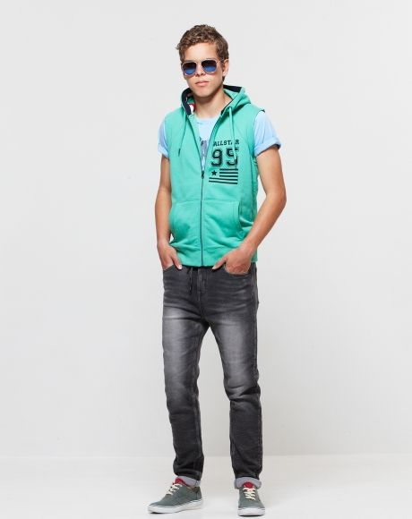 PAVEMENT BRANDS - NICO SLEEVELESS HOODIE   BRADLEY SWEAT JEANS ...