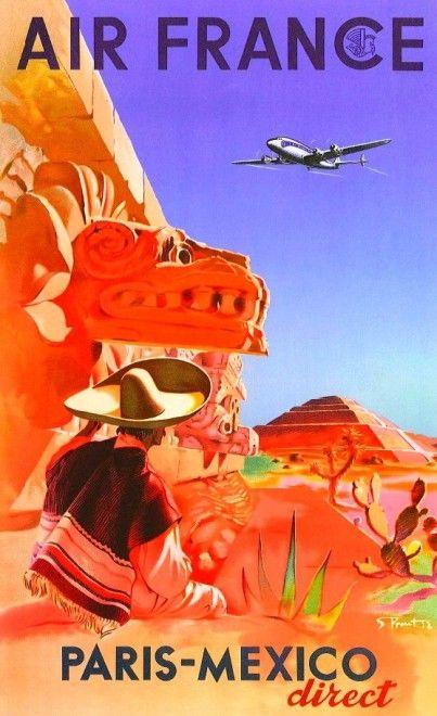 ancienne affiche air france 37 403x660 Anciennes affiches dAir France  design bonus