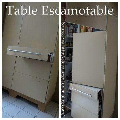 Table de cuisine escamotable dans tiroir instructions de for Petite table de cuisine avec tiroir