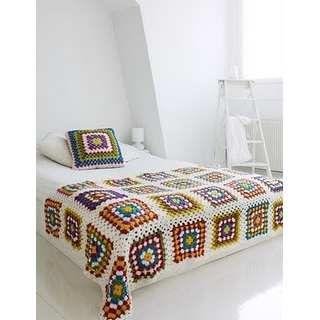 Colchas mantas pie de crochet tejido for Pie de cama xxl