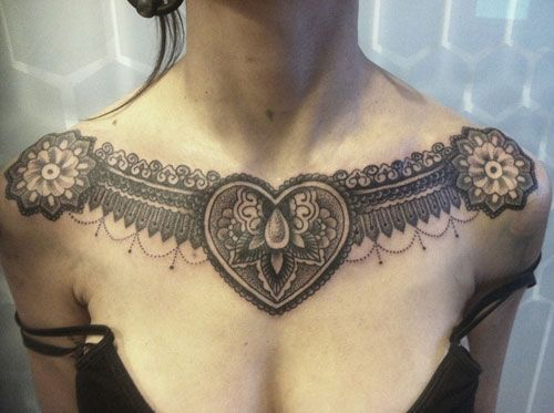 51 Cute Heart Tattoo Designs You Will Love 2020 Guide Chest Tattoos For Women Neck Tattoo Lace Tattoo