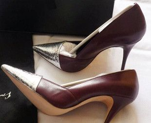 Low-cut shoes, Women's Shoes, Free Shipping European and American fashion super fight Yan Emperor Kangxi to the demonstration snake skin leather sheepskin pointed high-heeled shoes