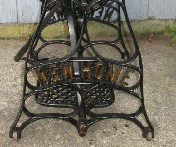 Antique NEW HOME Treadle Base  Gold by MyVintageDiscoveries 75
