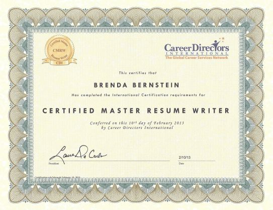 Last week I received my designation as a Certified Master Resume ...