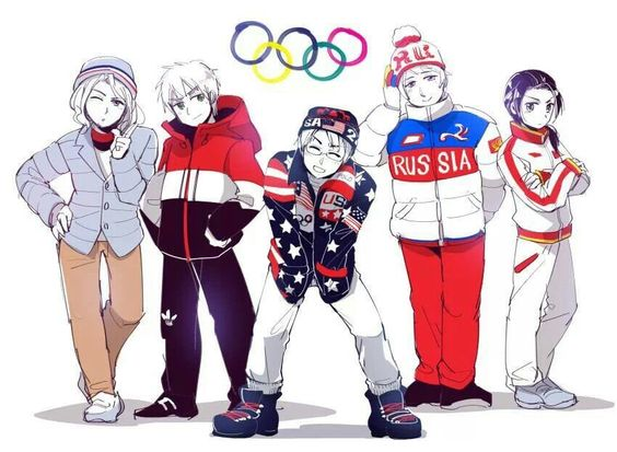 Winter Olympics allies France England America Russia China Hetalia