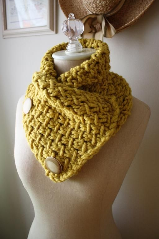 Phydeaux Twist Cowl Knitting Pattern by phydeaux - looks like a nice warm cowl - love the buttons!
