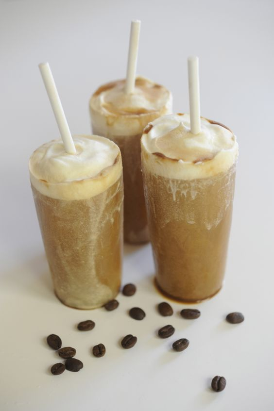 cappucino pops.     Simply mix freshly brewed espresso with cream and condensed milk, and freeze. Add a layer of cream and milk, and some cocoa powder for a mocha twist