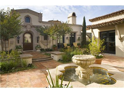 The old the courtyard and style on pinterest for Homes with front courtyards
