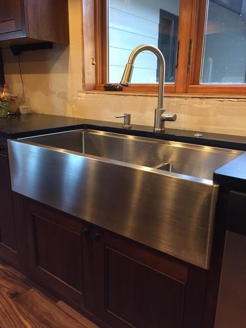 39 Apron Front Ledge Sink Double Bowl Large Bowl Left 5lad39 Kitchen Remodel Ledge Sink Kitchen Remodeling Projects