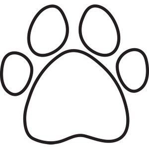 Dog Paw Print Silhouette Clipart Free Clip Art Images Paw Print Coloring Page