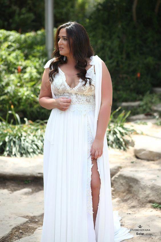 Casual Plus Size Boho Wedding Dress