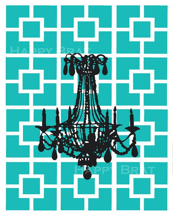 Chandelier Nixon Pattern 'Modern Print'  8 x 10 by HappyBrat, $12.00