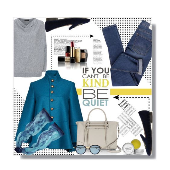 """""""Hijab"""" by sans-moderation ❤ liked on Polyvore featuring Cheap Monday, Jaeger, Ralph Lauren, Nanette Lepore, Rebecca Minkoff, EMMA J SHIPLEY, Fig+Yarrow, Lancôme, Blue and grey"""