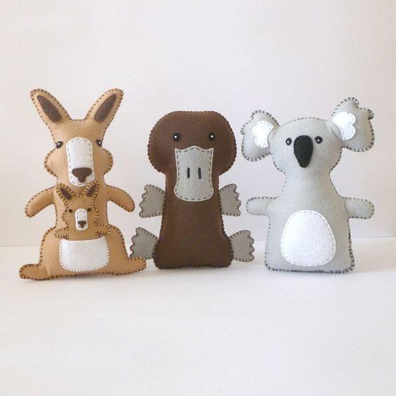 Kangaroo Stuffed Animal Sewing Pattern par LittleSoftieShoppe