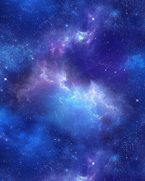 In Space - Universal View - Royal Blue