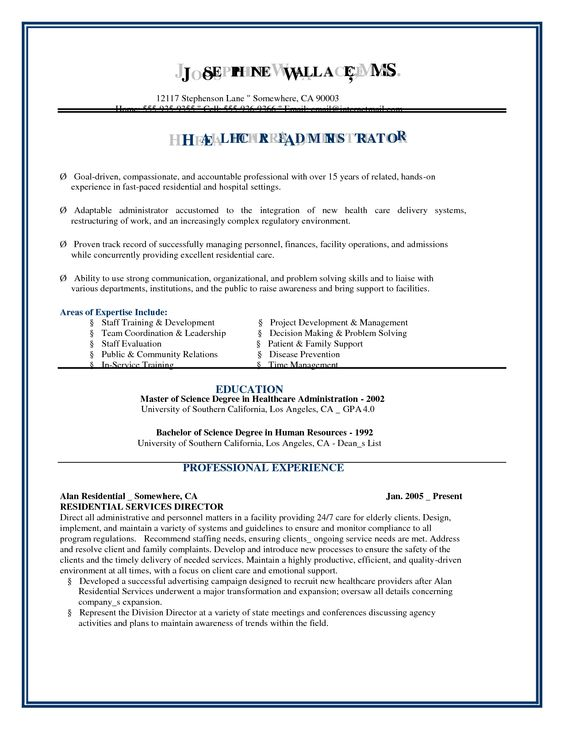 Veterans in Healthcare Job Board \ Resume Database Non-tech - change agent sample resume