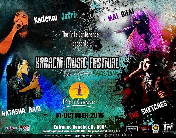 Get Ready for Karachi Music Festival at Port Grand on 1st of October 2016. Come and join us to Celebrate Karachi Music Festival with Nadeem Jafferi Mai Dhai Natasha Baig and The Sketches.  #portgrand #karachites #foodporn #fooddiary #pakistan #food #desi #restaurant #igerspakistan #tourpakistan #pakistan_travel_daries #mood #streetdreamsmagazine #moodygr #wallsofinstagram #instagram #spectacularpakistan #instalike #greenpakistan #weekend #happiness #dawn_dot_com #happy #dawndotcom #seaport…