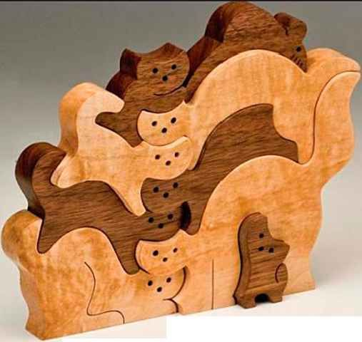 Stack Cut The Puzzles From Contrasting Hardwoods To Add