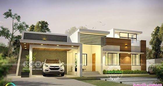 1600 Sq Ft Modern Single Floor Kerala Home Kerala House Design Single Floor House Design Kerala Houses