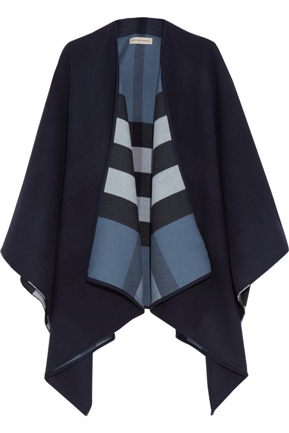 Burberry London | London checked merino wool cape