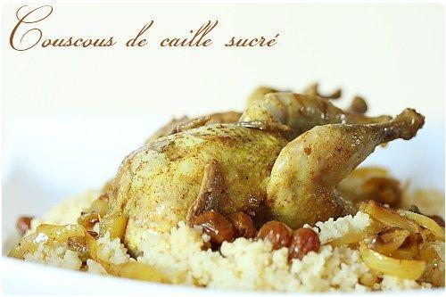 Couscous de cailles sucré aux raisins secs