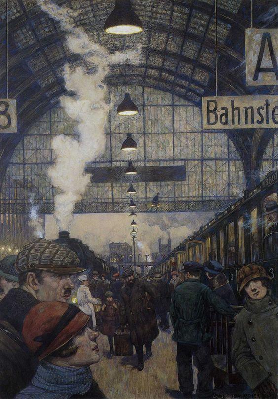 Hans Baluschek - Railway Station (1929)