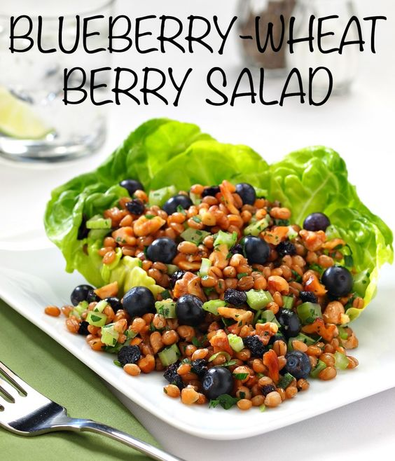 wheat salad! | Delicious | Pinterest | Wheat Berry Salad, Berry Salad ...