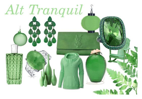 alternate tranquil by wwdesign on Polyvore featuring Columbia, Yves Saint Laurent, Charlotte Olympia, St. John, Siman Tu, Bling Jewelry, The Merchant Of Venice, Global Views, INC International Concepts and Jim Marvin