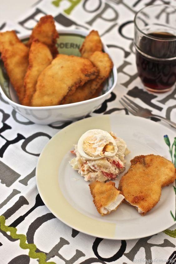 Filete de pez espada empanado en actifry | La cocina perfecta