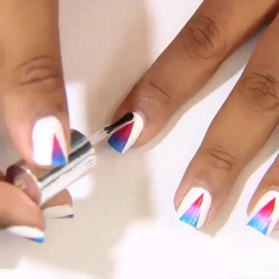 Love this idea <press play>  nailsartvidss's video on Instagram