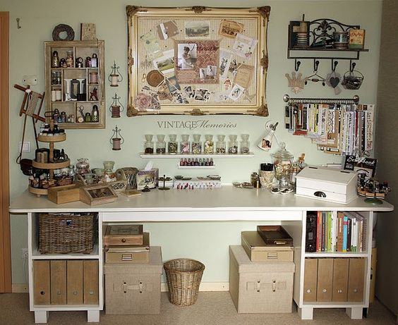 Room Inspiration: Vintage Craft Room  Idea by http://www.2gypsygirls.com/