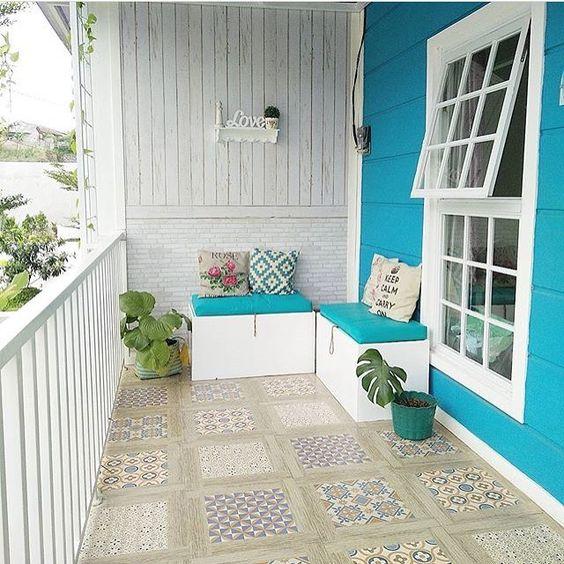 desain lantai teras rumah minimalis