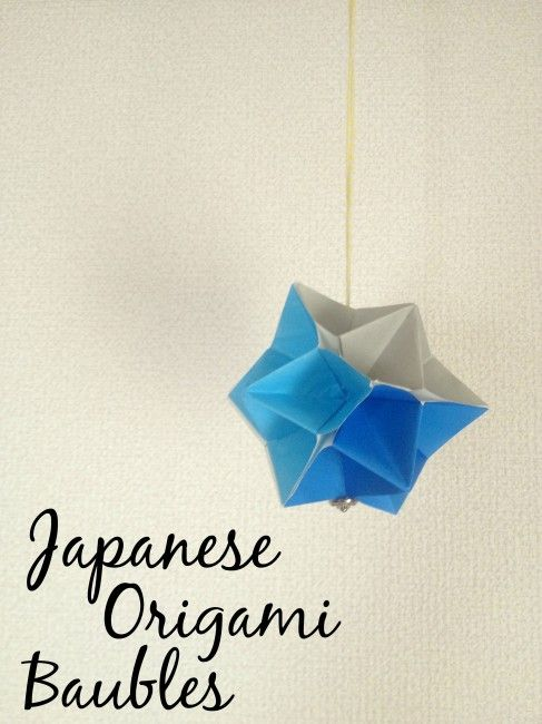 Japanese origami baubles