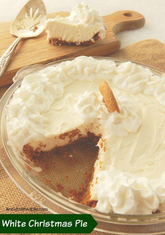White Christmas Pie Recipe. This luscious, easy to make holiday pie is ...