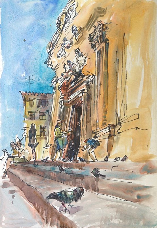 Impressions of Italy: Pigeons                              …