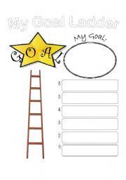 English worksheet: my goal ladder   School   Pinterest   My Goals ...