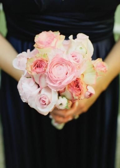 Pretty pink rose bridesmaid bouquet by The French Tulip.  Photo by Amanda Watson Photography.  #wedding #bouquet #bridesmaid #pink #rose
