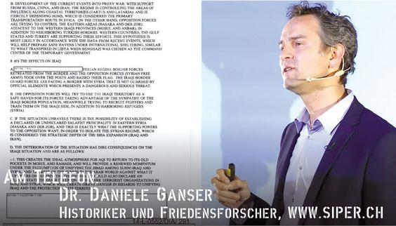 Dr. Daniele Ganser zur Verbindung IS und USA