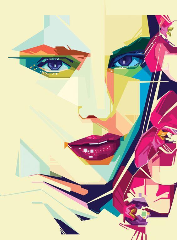 Geometric Beauty Portraits by Peter Olexa, via Behance
