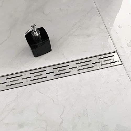 New Neodrain 24 Inch Rectangular Linear Shower Drain Brick Pattern