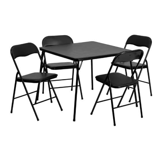 Flash Furniture 5 Piece Folding Table And Chair Set Card Table And Chairs Table And Chair Sets Metal Folding Chairs